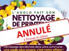 Annulation Nettoyage de la commune 2018