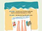 Fermeture estivale Médiathèque Le Préau