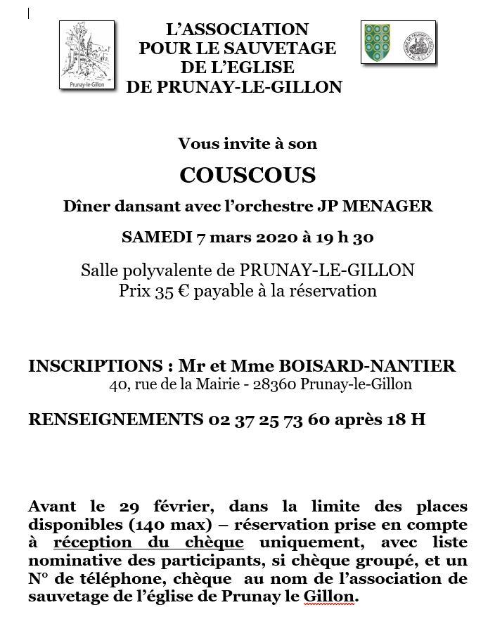 Affiche couscous 2020