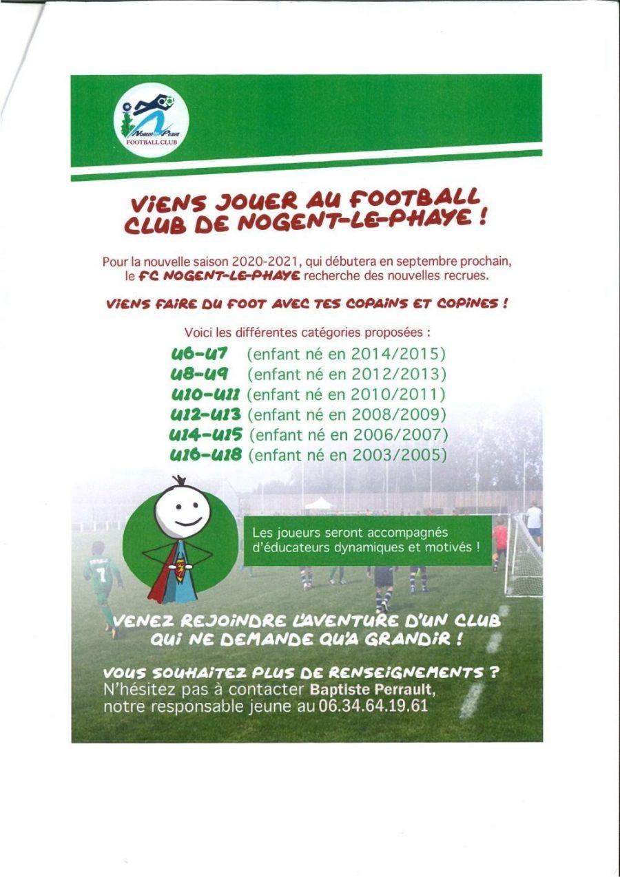 Jouer au foot à Nogent le Phaye